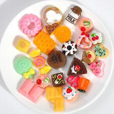 Cute Mix Foods Resin Cake Mobile Phone Strap Decoration DIY Random Style 10 Pcs