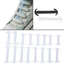 White No Tie Adult Kids Shoelaces Silicone Rubber Slip Easy Shoe Laces Sneaker