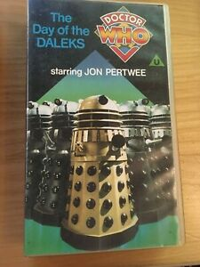 Doctor Who - Day Of The Daleks. VHS.Video. Jon Pertwee.1986