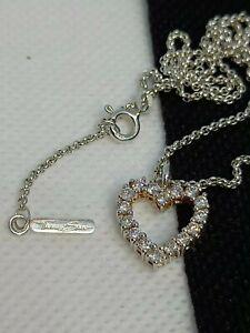 REDUCED Thomas Sabo Diamonte Heart Love Silver Chain Length 40cm Pendant