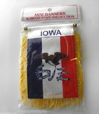 Iowa Mini Polyester Us State Flag Banner 3 X 5 Inches