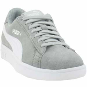 PUMA Big Kid's Smash V2 Suede Lace Up Sneakers US 4C