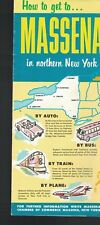 How to get to MASSENA in Northern New York NY 1960s Brochure