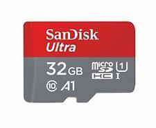 SanDisk Ultra 32 Go Classe 10 UHS-I microSDHC Carte Mémoire avec SD Adapteur (SDSQUAR-032G-GN6MA)