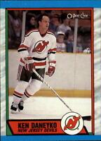 1989-90 O-Pee-Chee Devils Hockey Card #243 Ken Daneyko RC