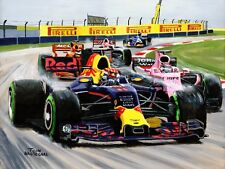 Print on canvas 2017 Chinese Grand Prix, Max Verstappen 3rd! Toon Nagtegaal (OE)