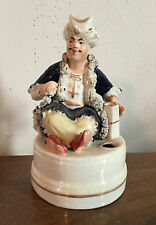 Antique 19th c. Staffordshire Pearlware Figure of a Turk Inkwell Quill Holder