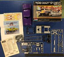 """Monogram """"Plum Crazy"""" '57 Chevy Funny Car #2790 1/24 1989"""