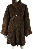 REVILLON PARIS Vintage Brown Persian Lambs Fur & Leather Reversible Coat