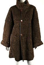 REVILLON PARIS Vintage Brown Persian Lambs Fur & Leather Reversible Coat