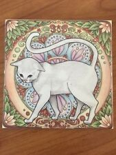 Art Tile Ceramic Crafts pencil drawing print Home decor Gift Cat Drawing
