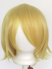 12'' Short Flare Golden Blonde Cosplay Wig Synthetic Rin NEW