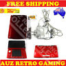 RED Nintendo 3DS Console + Charger + Super Mario Bros 2 DS