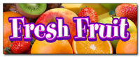 """12"""" FRESH FRUIT DECAL sticker stand market store orchard produce farmer picked"""