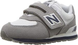 New Balance Boys 574v1 Essentials Sneaker (Grey, SZ 7 Wide US Toddler) IV574CG