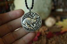 Valknut Odin 's fox Pendant Necklaces fox animal Double sided Jewelry viking