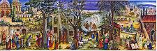 Orientalische Krippe Panorama Adventskalender zum Aufstellen Silberglimmer 260