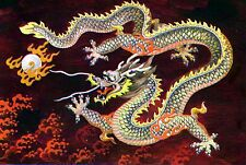 Red Chinese Dragon~counted cross stitch pattern #139~Fantasy Asian Graph Chart