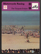 THE TOUQUET ENDURO OF SANDS Motorcycle Racing Photo 1978 SPORTSCASTER CARD 47-09