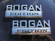 BOGAN EDITION PAIR CAR FENDER BADGES Chrome Metal Emblem *NEW* suit FALCON etc