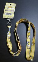 SANRIO Gudetama Cute Neck Strap 52cm yellow
