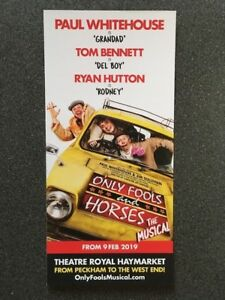 Only Fools and Horses- The Musical promotional flyer