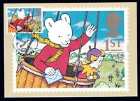 United Kingdom 1994 Rupert Bear maximum card postmarked KNUTSFORD, delightful!