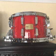 Vintage Sonor Link Signature 8 x 14 Snare Drum Steve Smith Autograph Tornado Red