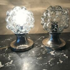 1960 bubble glass wall sconces ceiling lamps set of 2