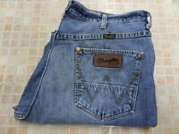 Wrangler Vintage Mens cotton Denim Jeans Alaska Blue Size w36 L31 Grade A K787