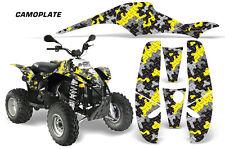 Graphics Kit Decal Wrap For Polaris Sportsman 500 Trailblazer 350 85-09 CAMO YLW