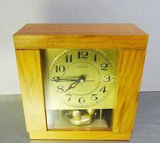 Ältere elektromechanische Hettich Tischuhr Drehpendel Quartz Uhr 60er