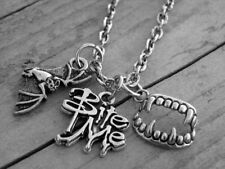 Vampire Charm Necklace Vampire Necklace Vampire Jewelry Gothic Goth Bite Me