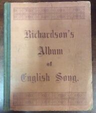 Antique Richardson's Album of English Song Songbook (1880) SheetNoteMusic.com