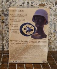 WWII German M40 Combat Helmet Die-cast Metal German Luftwaffe #GBX304 Gearbox