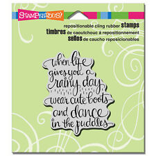 STAMPENDOUS RUBBER STAMPS CLING CUTE BOOTS NEW cling STAMP