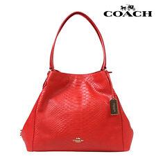 COACH 35340 EDIE Watermelon Python Embossed Leather Shoulder Bag Msrp $650. EUC.