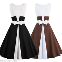 Vintage Women 50s Retro Rockabilly Pinup Evening Cocktail Party Prom Swing Dress