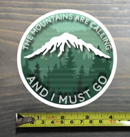 The Mountains Are Calling Sticker Decal And I Must Go 14er Patagonia Marmot PO