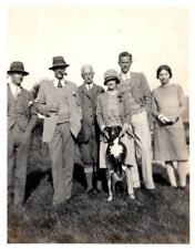 Photograph Country House Living Family Group & Dog Tweed  Scotland 1930's 10