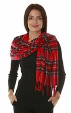 Big Winter Warm Tartan Checked Cashmere Feel Shawl Blanket Scarf 80