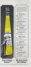 1964 Italiano Galliano Liqueur PRINT AD with drink mix recipes great detailed ad