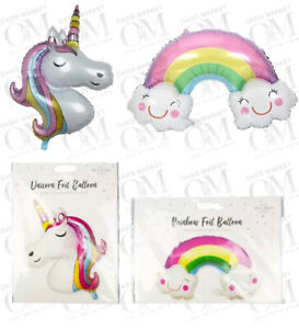 UNICORN & RAINBOW Foil Balloons Children Birthday Party Decor Kids Gifts