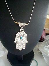 Hamsa hand Fatima Miriam pendant necklace  boxed.  free UK post