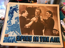 Spies In The Air 1940 Film Alliance lobby card Roger Livesey Joan Marion Everly