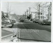 Cars on Snowy Green Street Looking East ITHACA NY Vintage 1970 Photo