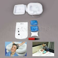 Blanco de PVC para discapacitados ancianos Champú cabello lavado Cuenca portátil inflable