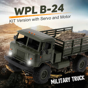 WPL 1/16 RC Military Truck Rock Crawler Army Car Kit Vehicle w/Motor &Servo