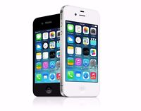 Apple iPhone 4S - 8GB 16GB 32GB 64GB GSM AT&T Smartphone Black / White - Great