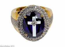 Men's Clergy Bishops Ring (MRG2031 G-P) Amethyst, Sterling Silver w/Gold Plating
